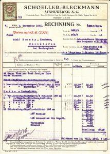 Rechnung 1936