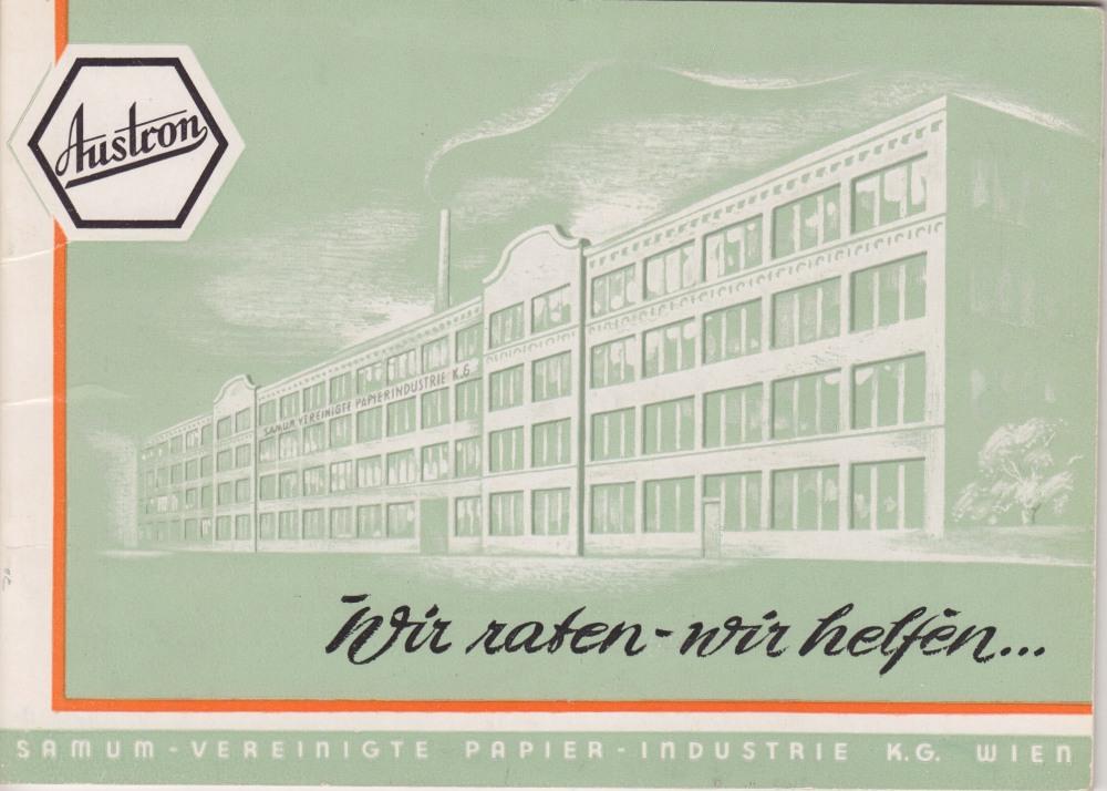 1954: Werksansicht Döbling, Kreilplatz 1, heute Q19.