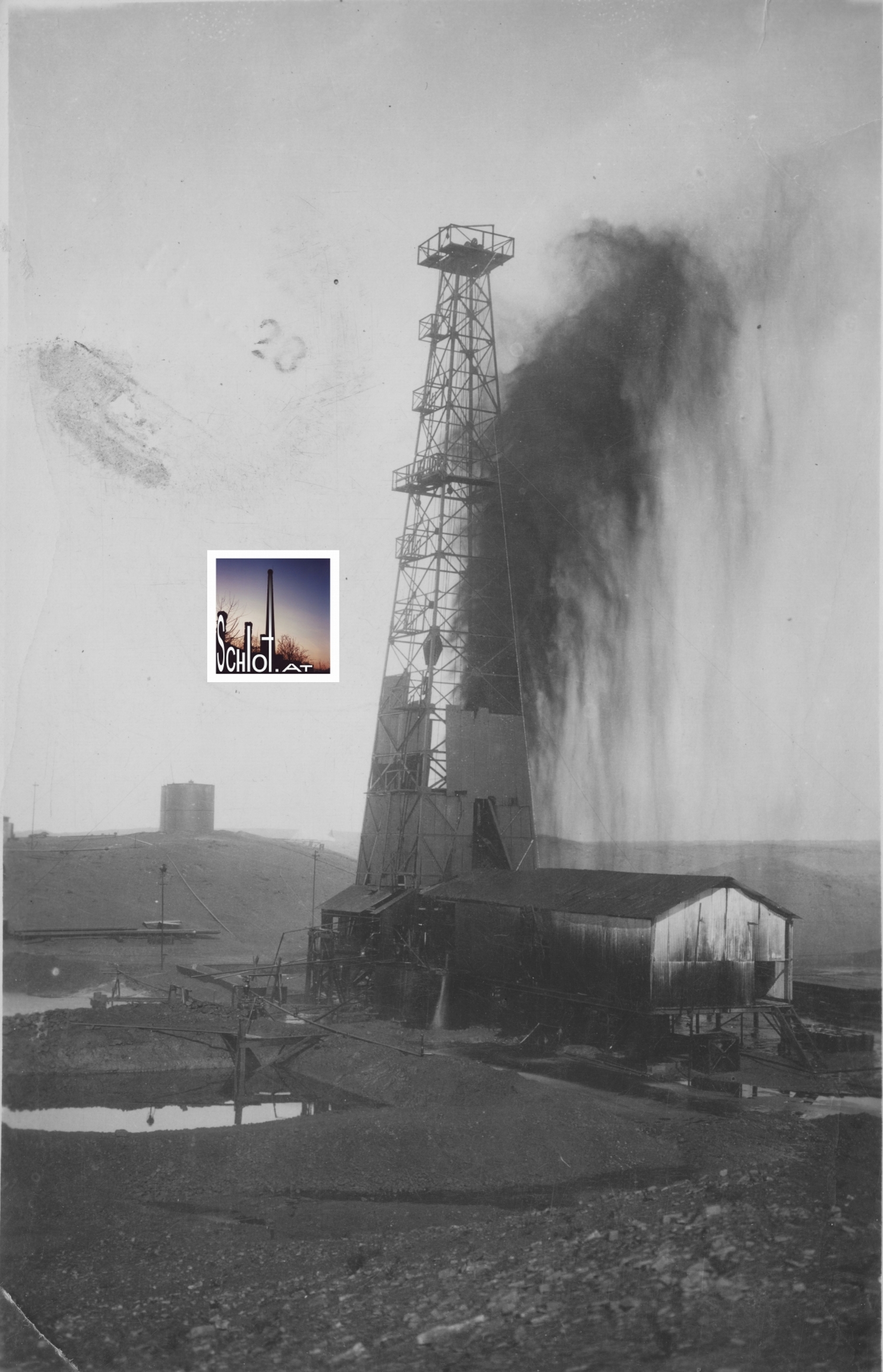 Bohrtum im Ölfeld Baba Gurgur, Nordirak, 1927. Copyright Archivbestand schlot.at (2015)